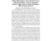 A. Bakratcheva,The Call of Green:Thoreau