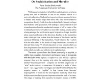 On Sophistication and Morality