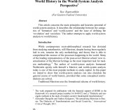 World History in the World-System Analys