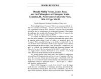 Donald Phillip Verene, James Joyce and..