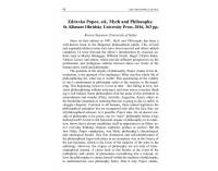 Zdravko Popov, ed., Myth & Philosophy...