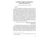 Legislators' Temporary Permanence and...