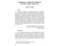 Contemporary Political Development: ...