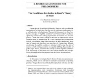 The Conditions for Justice in Kant's....
