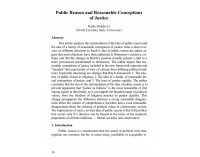 Public Reason and Reasonable Conceptions