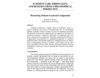 Measuring Patient-Centered Compassion