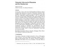 Nietzsche's Reversal of Platonism  and..