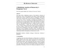 A Bakhtinian Analysis of Dostoevsky's...